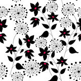 Pattern with flowers graphic quality Royalty Free Stock Photography
