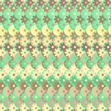 Pattern with flowers in green colors. Seamless pattern with colorful abstract flowers in green colors Stock Photo