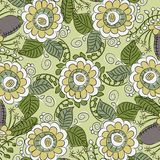 Pattern with flowers and leaves Royalty Free Stock Photos
