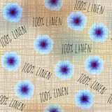 Pattern with flowers linen Royalty Free Stock Photo