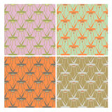 Pattern with flowers, modern or art nouveau style Royalty Free Stock Photography