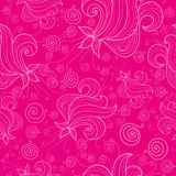 Pattern with flowers on pink background Royalty Free Stock Image