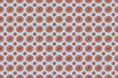Pattern of flowers in rose quarts and serenity blue colors stock photos