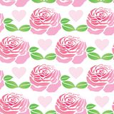 Pattern of flowers roses Royalty Free Stock Photography
