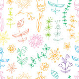 Pattern with flowers. Royalty Free Stock Photos
