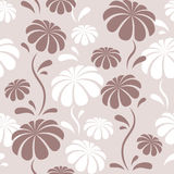 Pattern with flowers. Seamless pattern with purple and white flowers in vector Royalty Free Stock Image