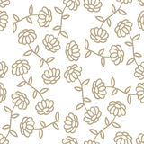 Pattern Flowers. Seamless simple flower vector background Stock Photos