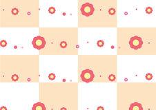Red flowers pattern vector. Flowers pattern on table background Royalty Free Stock Photo