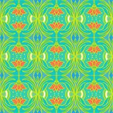 Pattern with flowers in tropical colors Stock Photo