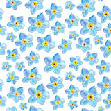 Pattern with flowers Stock Image