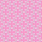 Pattern of flowers of white color. With shadow on pink background Vector Illustration