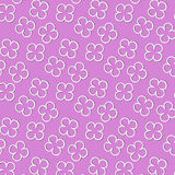 Pattern of flowers of white color. With shadow on pink background Royalty Free Illustration