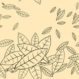 Pattern of fly leaves. Vector seamless background Royalty Free Stock Photography