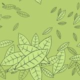 Pattern of fly leaves. Vector seamless background Stock Image