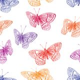 Pattern of the flying butterflies Stock Images