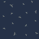 Pattern with flying dragonflies. Minimalist seamless pattern. Flying dragonflies. Vector illustration Stock Photos