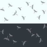 Pattern with flying dragonflies. Minimalist seamless pattern. Flying dragonflies. Vector illustration Stock Photo
