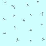 Pattern with flying dragonflies. Minimalist seamless pattern. Flying dragonflies. Vector illustration Stock Images