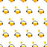 Pattern with flying heart Stock Photos