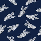 Pattern of the flying shoe Stock Photos