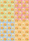 The pattern of food. Beer and burgers Stock Illustration
