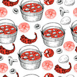 Pattern with food Royalty Free Stock Image