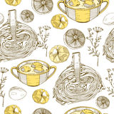 Pattern with food Royalty Free Stock Images