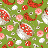 Pattern with food Stock Photos