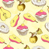 Pattern with food Stock Images