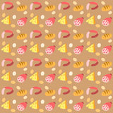 Pattern with foods Royalty Free Stock Photos