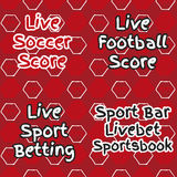 Pattern for football live betting. Royalty Free Stock Photos