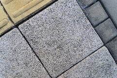 Pattern on the footpath paving block. Close up of pattern on the footpath paving block Stock Images