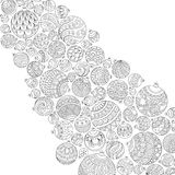 Pattern For Coloring Book. Christmas Hand-drawn Decorative Element Royalty Free Stock Photos