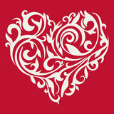 Pattern in the form of heart. Floral heart. Tracery heart. Stock Photos