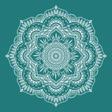 Pattern in form of mandala art. Pattern in form of mandala for Henna, Mehndi, tattoo, decoration. Decorative ornament in ethnic oriental style. Coloring book vector illustration