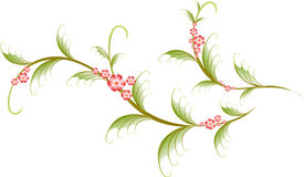 Pattern in the form of sakura branch. EPS10 vector Royalty Free Stock Photos