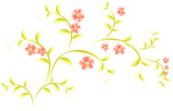 Pattern in the form of sakura branch. EPS10 vector Stock Photography