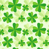 Pattern of four leaf clover. The pattern of four leaf green clover Royalty Free Stock Photography