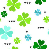Pattern with four leaf clover leaves Royalty Free Stock Photography