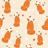 Pattern with fox Stock Photography