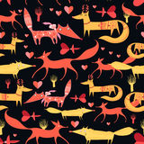 Pattern of foxes Royalty Free Stock Images