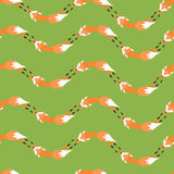 Pattern with foxes Royalty Free Stock Image