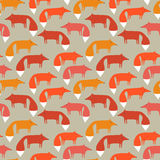 Pattern of foxes. Image of fox. seamless pattern of foxes Royalty Free Stock Photo