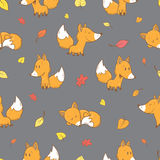 Pattern with foxes. Stock Images