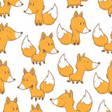 Pattern with foxes. Stock Photos