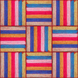 The pattern of fragments striped fabric Royalty Free Stock Photos