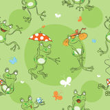 Pattern with frogs. Royalty Free Stock Photo