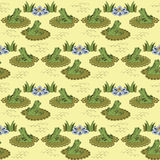 Pattern with frogs and water lilies Stock Photography