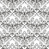 Pattern From Stars And Flowers Royalty Free Stock Photo