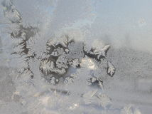 The pattern on the frosty glass. Royalty Free Stock Image